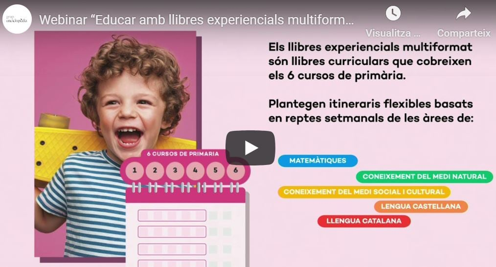 Mira el webinar 'Educar amb llibres experiencials multiformat' amb què Text ha presentat el nou projecte per a primària 'Itineraris, reptes i realitats'